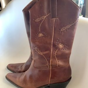 BRAZILIAN LEATHER BOOTS Sz 8 ❤️❤️